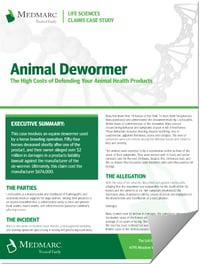 Animal Health Dewormer Case Study